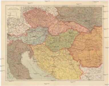 Místopisná a železniční mapa nástupnických států