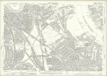 London (Edition of 1894-96) XCI (includes: Bermondsey; Borough Of Greenwich; Deptford St Paul) - 25 Inch Map