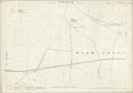 Durham LIV.3 (includes: High Coniscliffe; Walworth) - 25 Inch Map