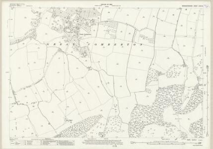 Worcestershire XLVIII.8 (includes: Birlingham; Bricklehampton; Eckington; Elmley Castle; Great Comberton; Little Comberton) - 25 Inch Map