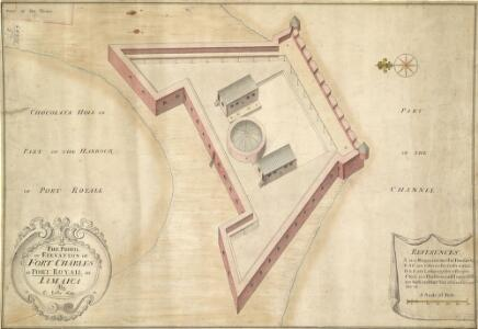 The Profil Of Elevation Of Fort Charles At Port Royal In Iamaica