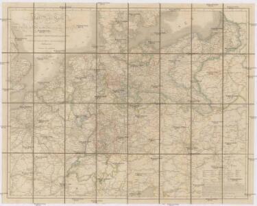 Post- Reise-Karte durch Deutschland und die angraenzenden Staaten zwischen London und Lublin, Koppenhagen und Mantua