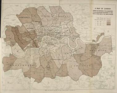 London Map Districts.A Map Of London Showing The Proportion Of The Inhabitants Of Each
