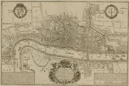 A Plan of London, Westminst.r and Southwark