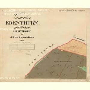 Edenthurn - m3465-1-001 - Kaiserpflichtexemplar der Landkarten des stabilen Katasters