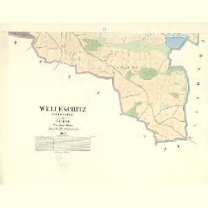 Welleschitz (Welessice) - c8364-1-003 - Kaiserpflichtexemplar der Landkarten des stabilen Katasters
