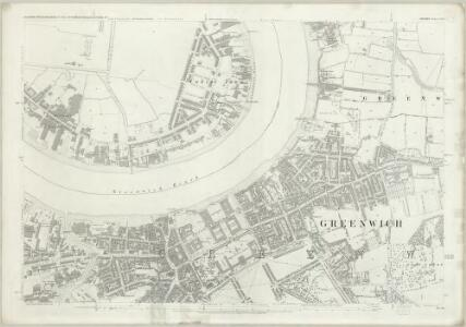 London (First Editions c1850s) LVIII (includes: Borough Of Greenwich; Poplar Borough) - 25 Inch Map