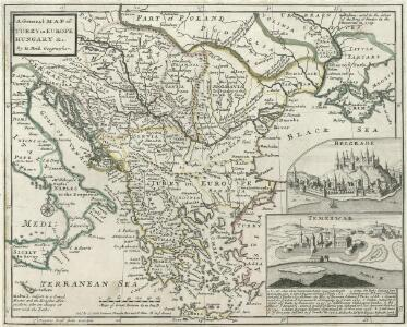 A General Map of Turky in Europe, Hungary etc