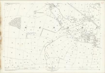 Nottinghamshire XX.14 (includes: Laxton; Ossington; Weston) - 25 Inch Map