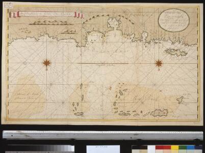 De Noordkust van Espaniola van Cabo Francesos tot I. Tortuga vertonende de Machenille int groodt alles geleght na de nieuste afteekeninge