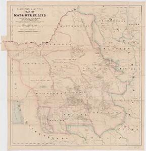 Fletcher & Espin's map of Matabeleland