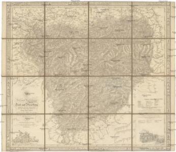 Post- und Reise-Karte von Tirol und Vorarlberg