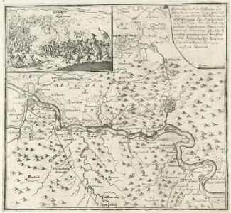Eigendliche Vorstellung des zwischen denen Key; und ein Corpo von 30000 Turken unter anführung des Seras Kiers von Widdin den 29. Jull. 1739 in dem Banat von Temeswar unweit Banzova glüklich vorbey gegangenen treffen nebst beygefugter Karten des aldortigen Terrain auf 14 Meilen