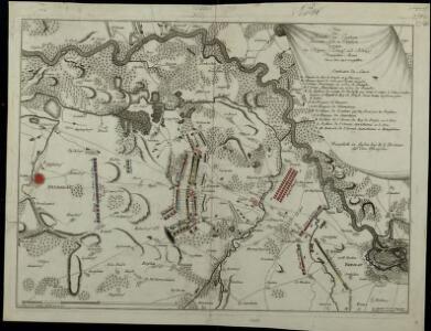 Plan der Bataille von Leuthen ohnweit Lissa in Schlesien zwischen der Kayserl. Königl. und Königl. Preusischen Armee den 5. Dec. 1757 vorgefallen