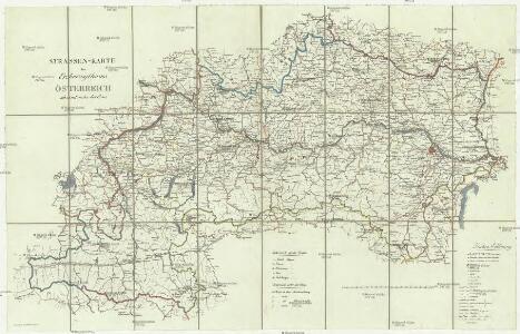 Strassen-Karte des Erzherogthum Österreich ob und unter der Enns