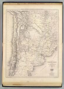 Carte de la Confederation Argentine.