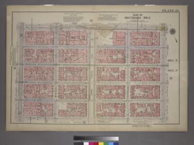 Plate 25, Part of Sections 3&5: [Bounded by E. 42nd Street, Third Avenue, E. 37th Street and Fifth Avenue.]