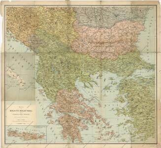 Karte der Balkan - Halbinsel und der angrenzenden Gebiete