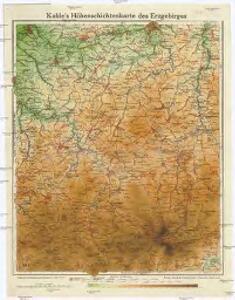Kahle's Höhenschichtenkarte des Erzgebirges