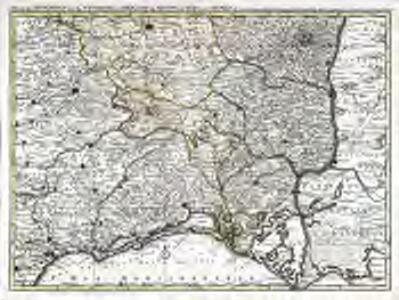 Partie des Sevennes, et le bas Vivarais, le diocese de Monpelliers, et de Nismes [et]c
