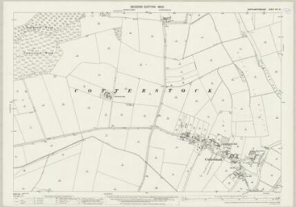 Northamptonshire XIII.13 (includes: Cotterstock; Glapthorn; Southwick; Tansor) - 25 Inch Map