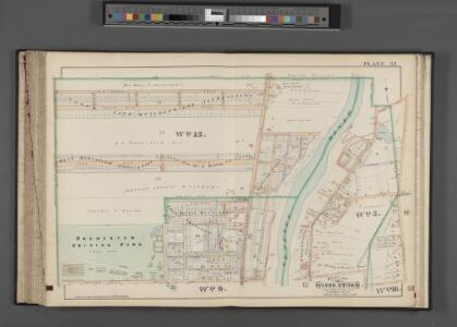 Rochester, Double Page Plate No. 32 [Map bounded by Ridge Rd., Hollenbeck St., Avenue D, Driving Park Ave.] / compiled from official records, private plans & actual surveys under the direction of E. Robinson.