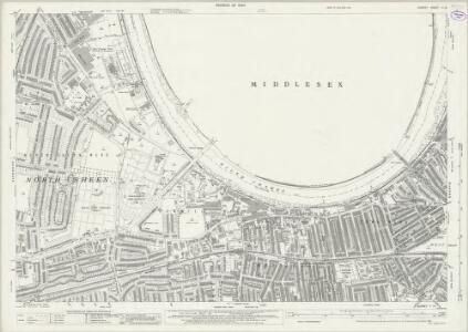 Surrey II.13 (includes: Barnes; Chiswick St Nicholas; Mortlake) - 25 Inch Map