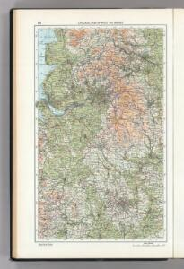 63.  England, North-West and Middle.  The World Atlas.