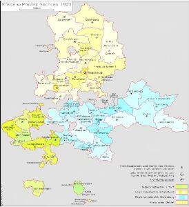 Kreise der Provinz Sachsen 1820