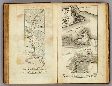 Road from Philadelphia to New York.  (Maps) 14 and 15.