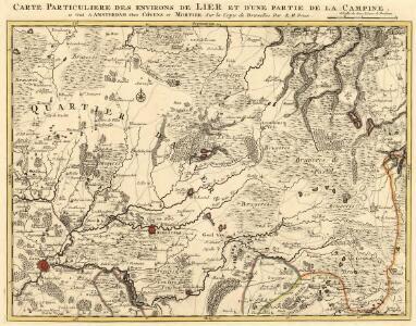 Carte Particuliere des environs de Lier et d'un partie de la Campine