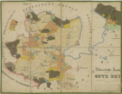 Přehledná mapa pozemků dvora Bzí 1
