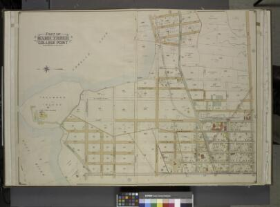 Queens, Vol. 3, Double Page Plate No. 2; Part of ward Three College Point. [Map bounded by Morris Greek, Caugeway, Vanwycks Lane,      North Boulevard, Avenue G, Avenue F, Avenue D, Avenue C, East Boulevard,         Schleicher Court, Third Ave., Lawre