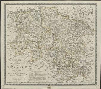Neueste Karte vom Koenigreich Hannover nebst den beiden Herzogthümer Braunschweig-Wolfenbüttel und Holstein-Oldenburg