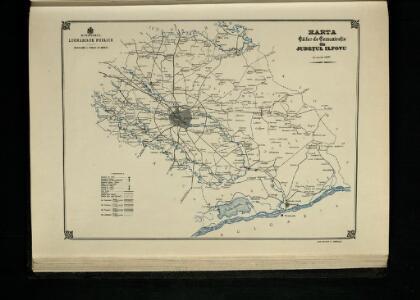 Harta Cailor de Comunicatie din Judetul Ilfovu