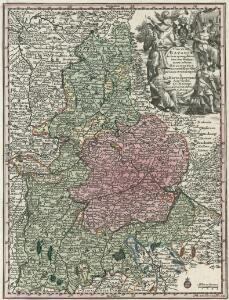 Circulus Bavariae in suas quasque dition. tam cum finitimis quam insertis Regionibus accuratissime divise