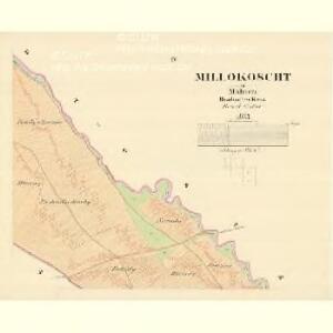 Millokoscht - m1800-1-004 - Kaiserpflichtexemplar der Landkarten des stabilen Katasters