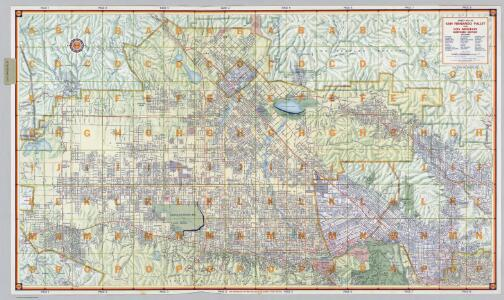 Street Map of San Fernando Valley and Los Angeles Northern Section.