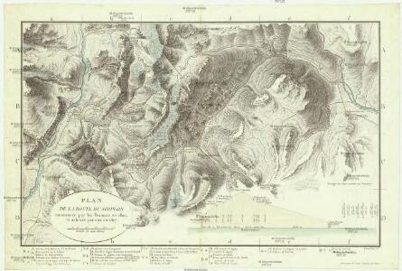 Plan de la route du Simplon