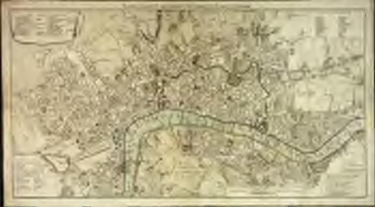 Neuester Grundriss von London, Westminster, und Southwark