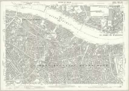 London (Edition of 1894-96) LXXVII (includes: Bermondsey; London; Stepney) - 25 Inch Map