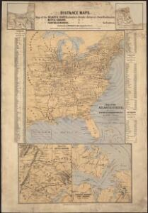 Map of the Atlantic States, showing distances from Washington (in bee line) by 50 mile circles