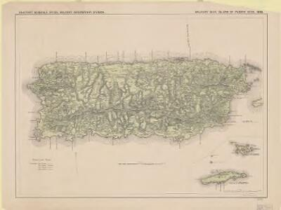 Military map, island of Puerto Rico, 1898