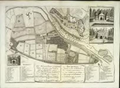 An exact plan of the royal palace gardens and park at Richmond