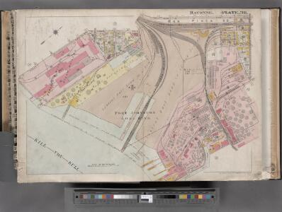 Jersey City, V. 1, Double Page Plate No. 38 [Map bounded by Avenue E, E. 22nd St., Kill Von Kull, Hobart Ave.] / compiled under the direction of and published by G.M. Hopkins Co.