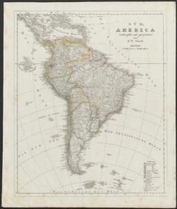 [Neuer Atlas der ganzen Erde nach den neuesten Bestimmungen ... : VI.] Südamerika