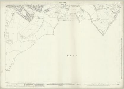 London (1915- Numbered sheets) X.8 (includes: Bexley; Borough Of Woolwich) - 25 Inch Map