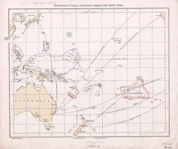 Distribution of French and German Islands in the Pacific Ocean.