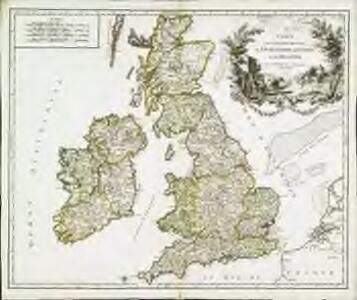 Carte des grandes routes d'Angleterre, d'Ecosse, et d'Irlande