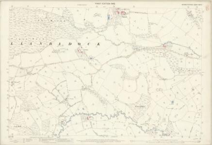 Monmouthshire XXIV.2 (includes: Llanbadog Fawr; Llangybi Fawr) - 25 Inch Map